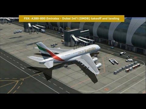 FSX: Emirates Airbus A380-800 - Dubai Int'l (OMBD) takeoff