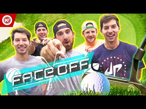 Thumbnail: Dude Perfect Golf FACE OFF | Jon Rahm & Wesley Bryan