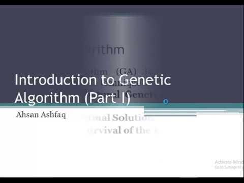 intro to genetic algorithm part 1