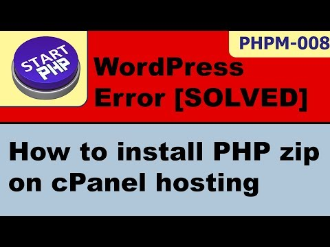 Oops, Unyson Backup requires PHP Zip module cPanel [SOLVED] startPHP-009
