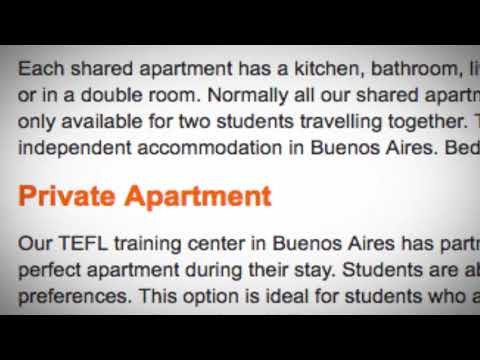 TEFL / TESOL School Accommodation in Buenos Aires, Argentina | Teach & Live abroad!
