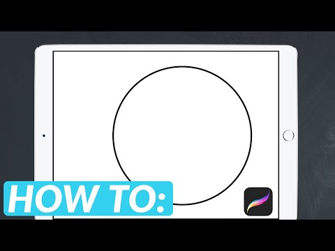 How To Draw a Perfect Circle in Procreate   😍iPad Pro + Apple Pencil