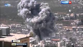 Russia-24 news channel accompanying the Syrian Army near Harasta, Damascus countryside