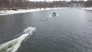 Minnesota Shockwaves Winter Water Skiing - February, 2016