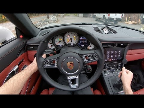 2019 Porsche 911 Targa 4 GTS Manual - POV Test Drive by Tedward (Binaural Audio)