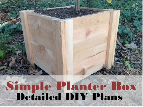 how to build this super easy planter box diy cedar. Black Bedroom Furniture Sets. Home Design Ideas