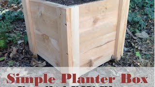 How to Build this Super Easy Planter Box - DIY Cedar Planter Box Tutorial