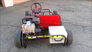 Craigslist $100 Go Kart with 5hp Tecumseh - Start Up & Walkaround