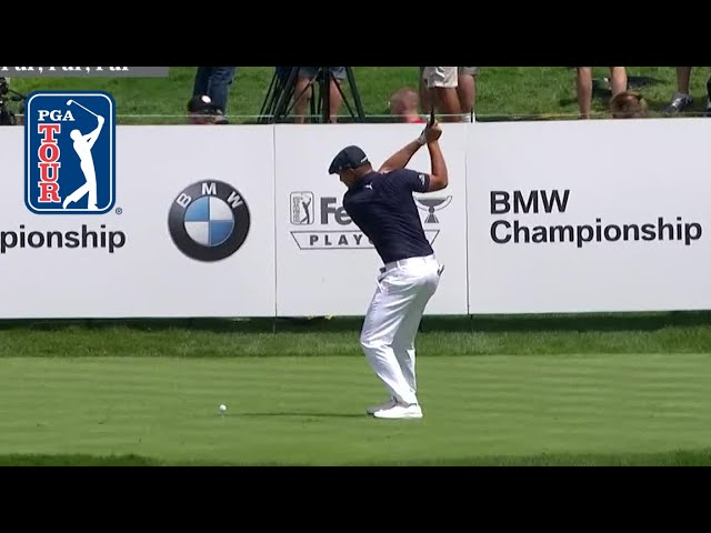 Bryson DeChambeau drives green to set up eagle at BMW Championship 2019