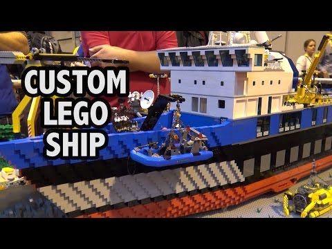 Detailed LEGO Exploration Ship and Dock  | Brick Birmingham 2016
