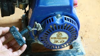 How to Replace the Starter Rope on a gasoline engine.You can certainly