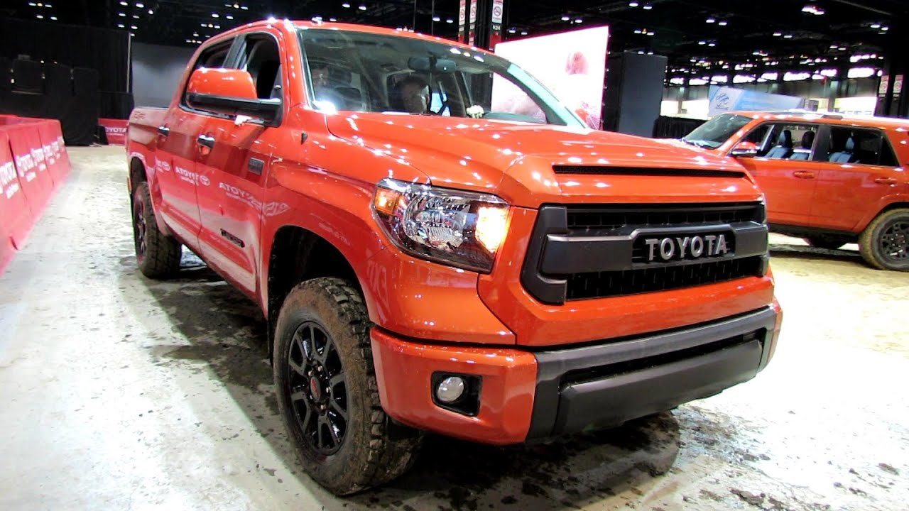 2017 Toyota Tundra Trd Pro Off Road Driving Walkaround Debut At Chicago Auto Show You