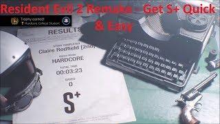 Resident Evil 2 Remake - Easy Instant S+ Rank & Unlock Unlimited Minigun & Rocket Launcher Fast