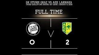 SK Sturm Graz 0-2 AEK Larnaca - 9/8/2018 - Full Game