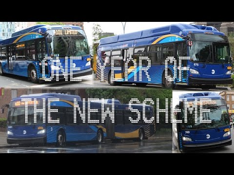 MTA NYC Bus: One Year of the New Scheme