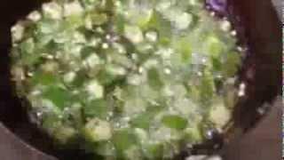 How to make okra Bindhi.