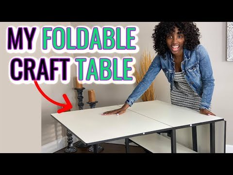 Craft Table Ideas For Small Spaces – Adjustable Home Hobby Table – Sewing and Cutting Table Review