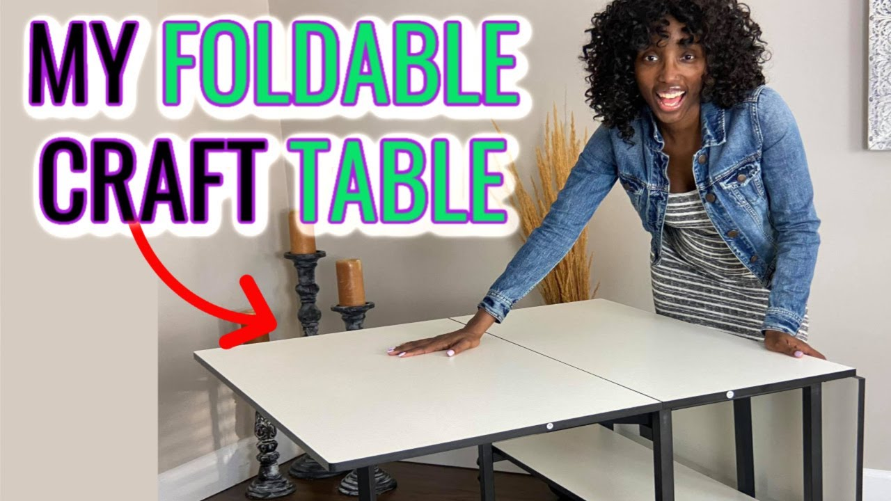 Craft Table Ideas For Small Spaces Adjustable Home Hobby Table Sewing And Cutting Table Review Youtube