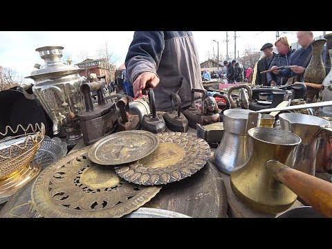 We did not expect this. Russian huge flea market walk