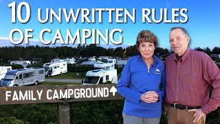 10 Unwritten Rules For Camping RV Tips and Campsite Etiquette