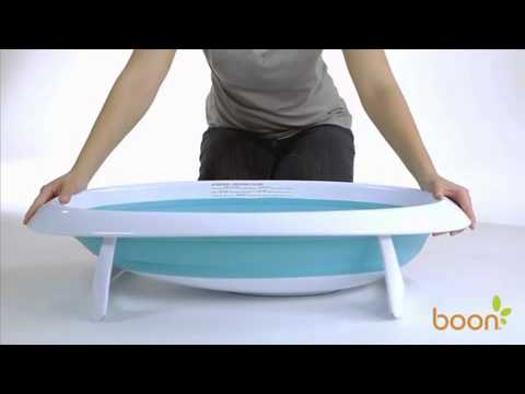Boon Naked 2-Position Collapsible Bathtub - YouTube