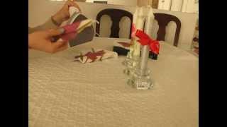 طريقه سهلة ورائعه لتزيين الشموع-DIY candle decorating idea