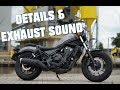 2017 Honda Rebel 500 details and exhaust sound