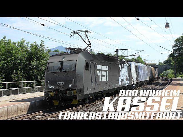 GoPro, Führerstandsmitfahrt Bad Nauheim - Kassel, 4K, Teil 2