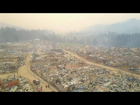 Drone Captures Wildfire Devastation in Chile