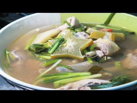 Chicken star fruit Soup Laos food recipes