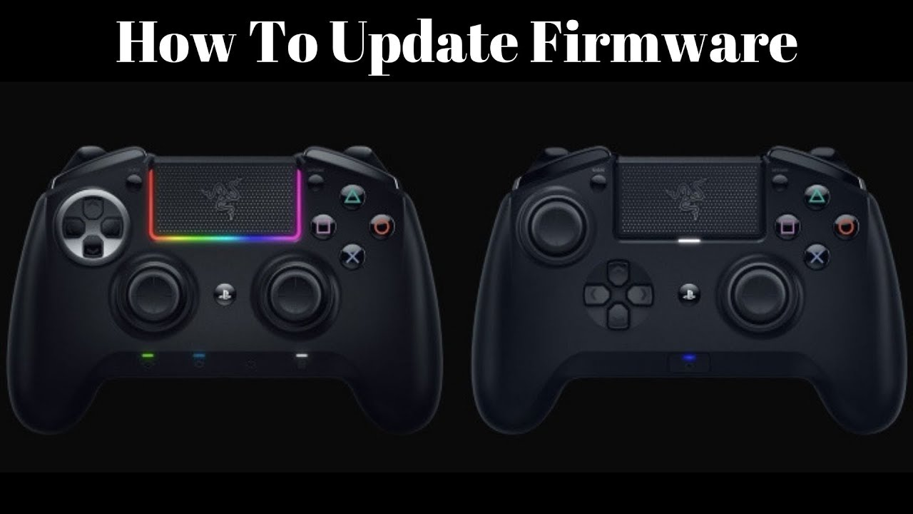 how to update firmware razer raiju ultimate