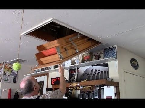 Pull Down Attic Ladder Repairs 15 Mins Job Turned Into Two Hours Youtube