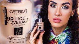 НОВИНКА Catrice HD Liquid Coverage Foundation   РЕВЬЮ & DEMO