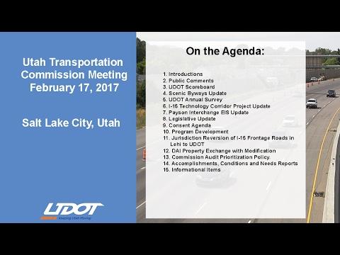 Utah Transportation Commission - February 2017