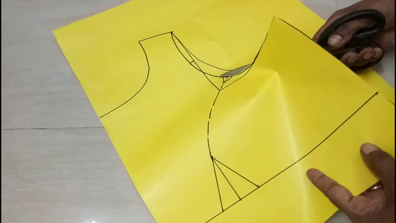 54faf27faa1493 How to make Boat Neck Blouse with Princess Cut drafiting/cutting(32 size)