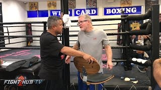... for more boxing and mma videos log onto http://www.fighthubtv.c...