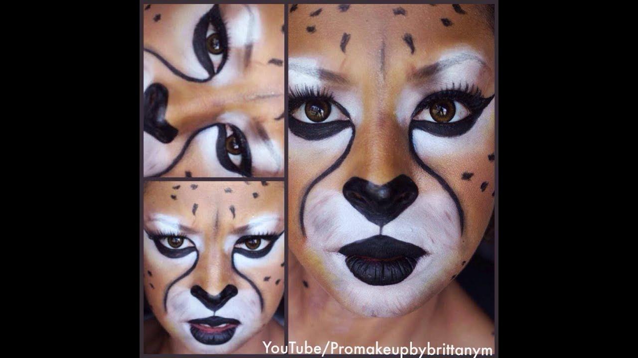 Cheetah Makeup Tutorial Halloween