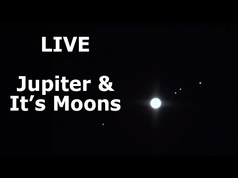 Live Back yard Astronomy Jupiter and its moons