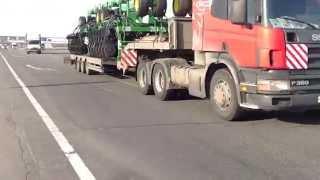 Перевозка 4х сеялок (негабарит) тралами ТК