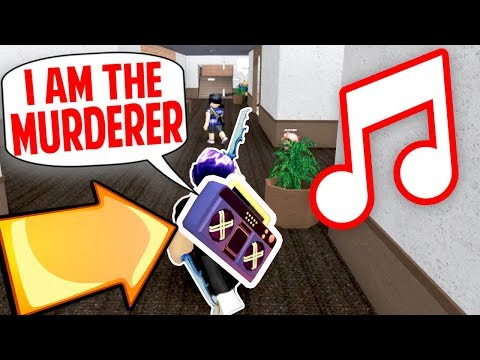 TROLLING PLAYERS WITH MY RADIO!! *FUNNY* (Roblox Murder Mystery 2)