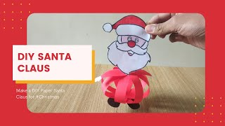 Santa Claus Making | How to make Santa Claus with paper for Christmas