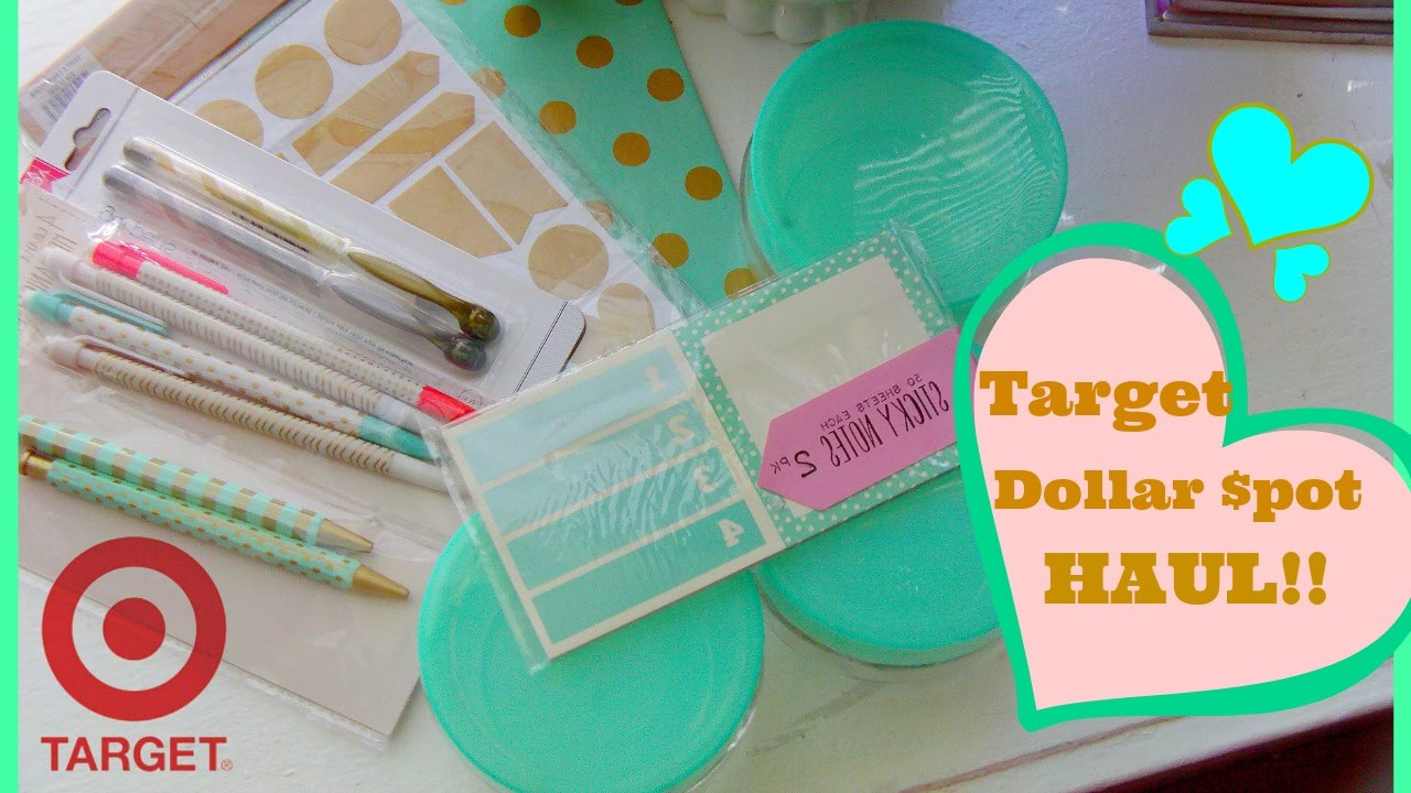 Target ♥ Dollar Spot Haul {Desk Supplies U0026 Stationary}   YouTube Pictures Gallery