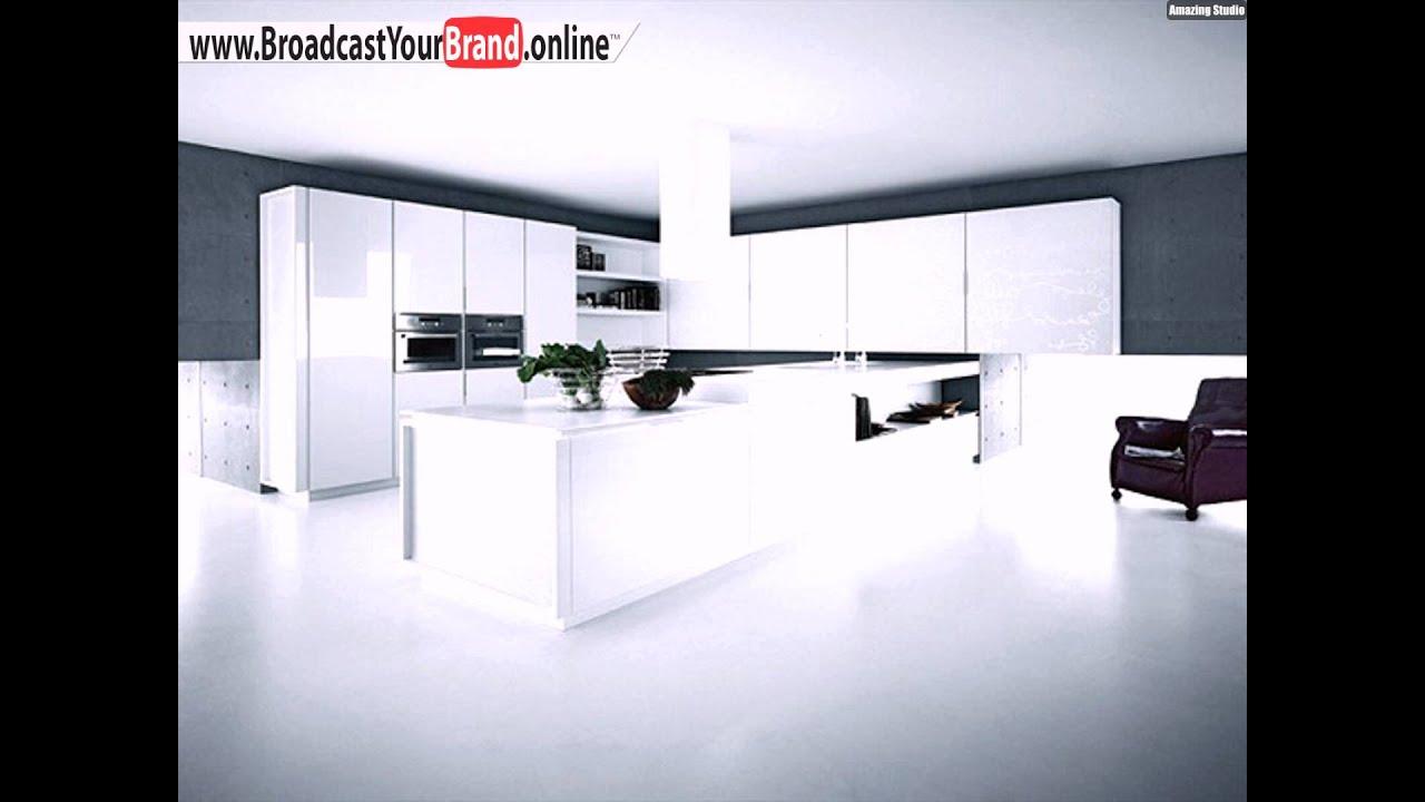 Weiße hochglanz küche cesar arredamenti   youtube