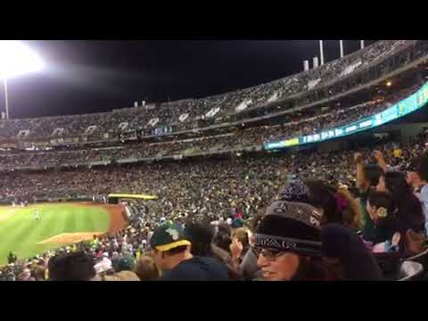 "Oakland A's Fans Do ""The Wave"" For Six Minutes For Rangers Game"