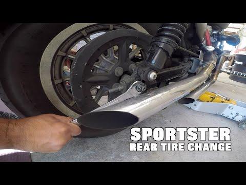 Sportster Rear Tire Change