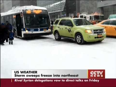 US Weather: Storm sweeps freeze into northeast
