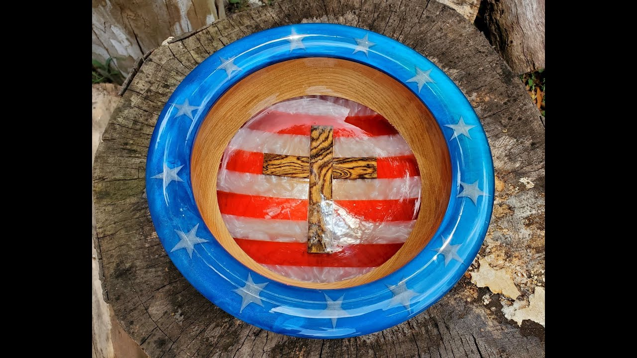4th Of July Bowl Stars and Stripes Total Boat Resin
