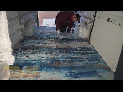 Custom Van Build NZ - Epoxy Resin Art Floor