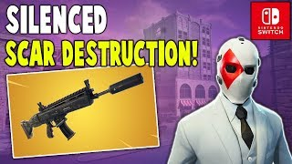New Silenced Scar Destruction!! (Nintendo Switch) - Fortnite Battle Royale Gameplay