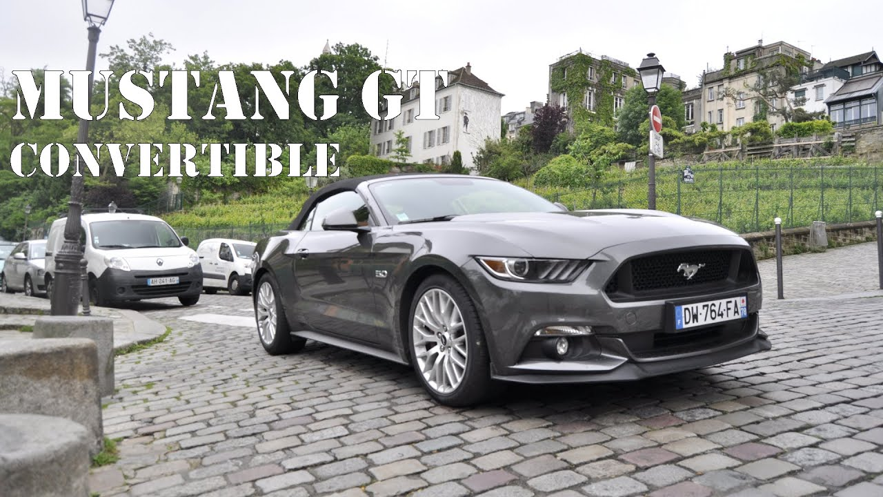 ford mustang gt v8 convertible essai sur le pouce youtube. Black Bedroom Furniture Sets. Home Design Ideas